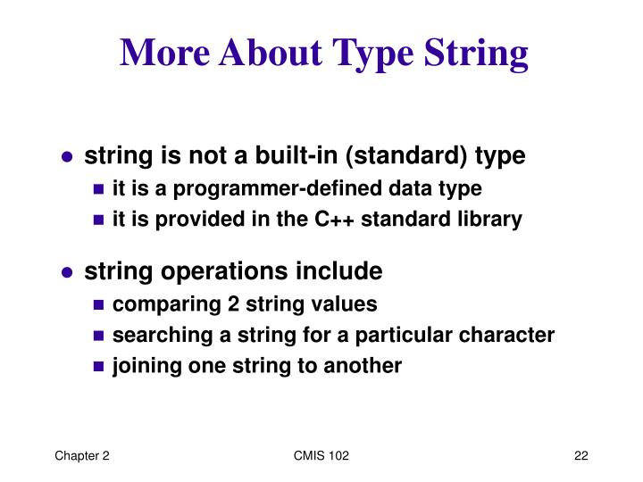 More About Type String