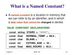 what is a named constant