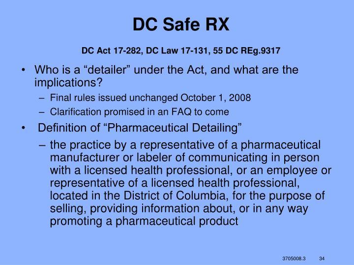 DC Safe RX