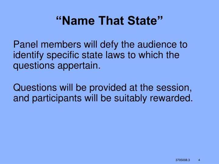 """Name That State"""