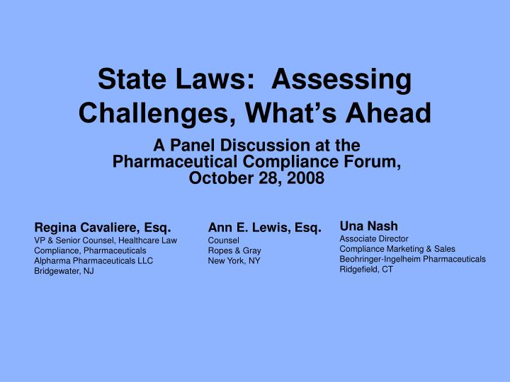 State laws assessing challenges what s ahead