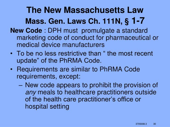 The New Massachusetts Law