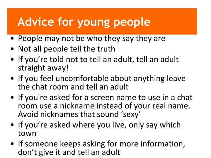 Advice for young people