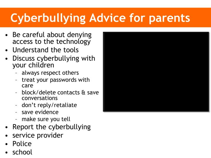 Cyberbullying Advice for parents