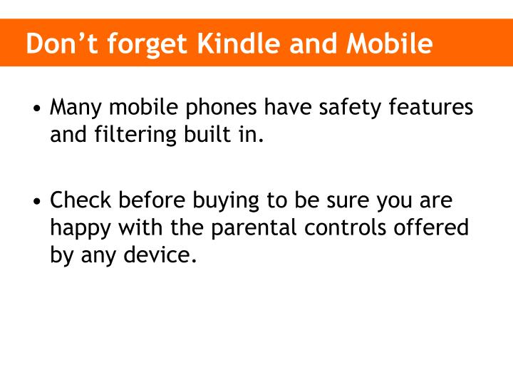 Don't forget Kindle and Mobile