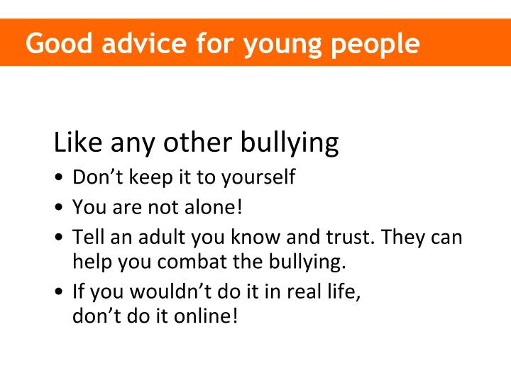 Good advice for young people