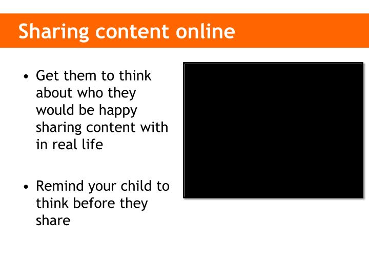 Sharing content online