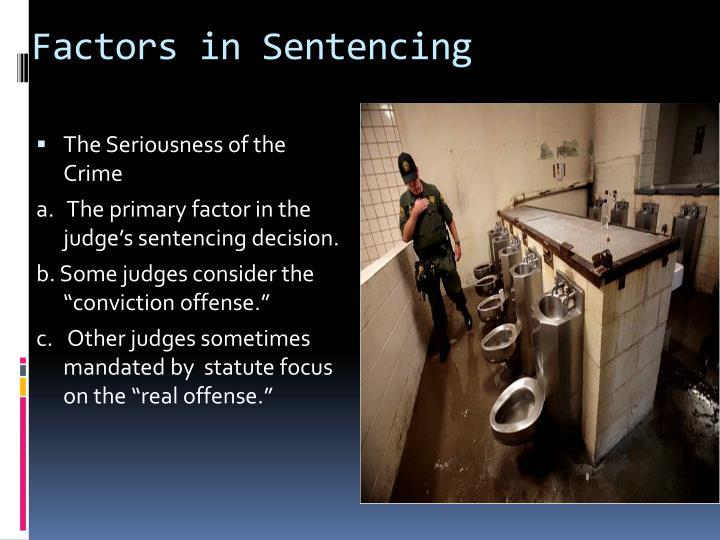 Factors in Sentencing