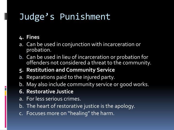 Judge's Punishment