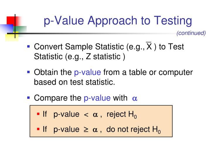 p-Value Approach to Testing