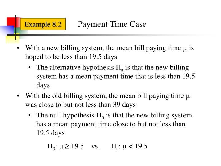 Payment Time Case