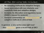 at the jsm some talks included