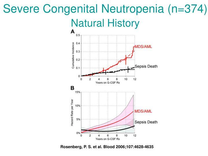 Severe Congenital Neutropenia (n=374)