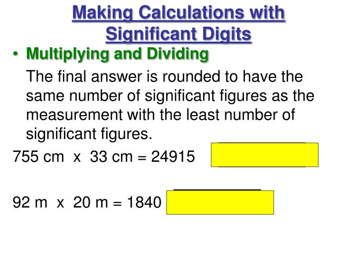 Making Calculations with