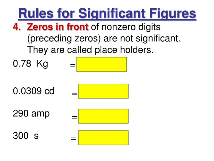 Rules for Significant Figures