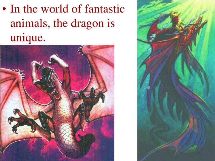 In the world of fantastic animals, the dragon is unique.