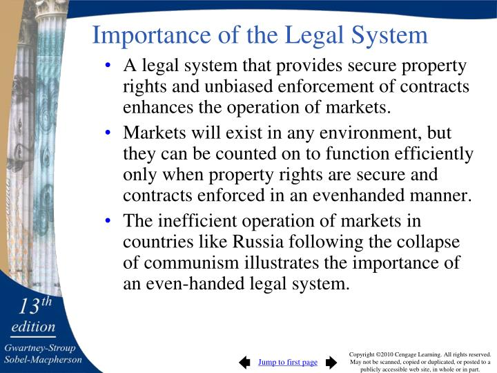 Importance of the Legal System
