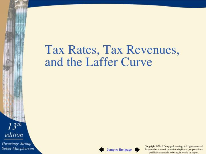 Tax Rates, Tax Revenues,
