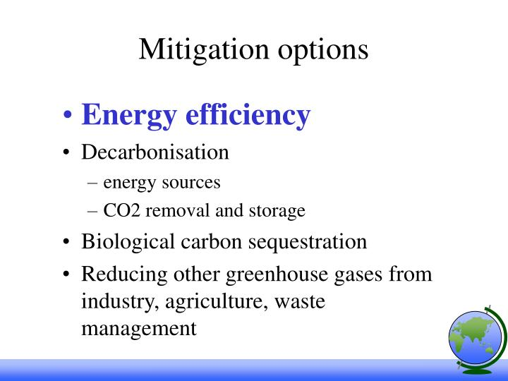 Mitigation options