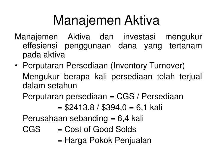 Manajemen Aktiva