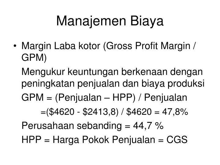 Manajemen Biaya