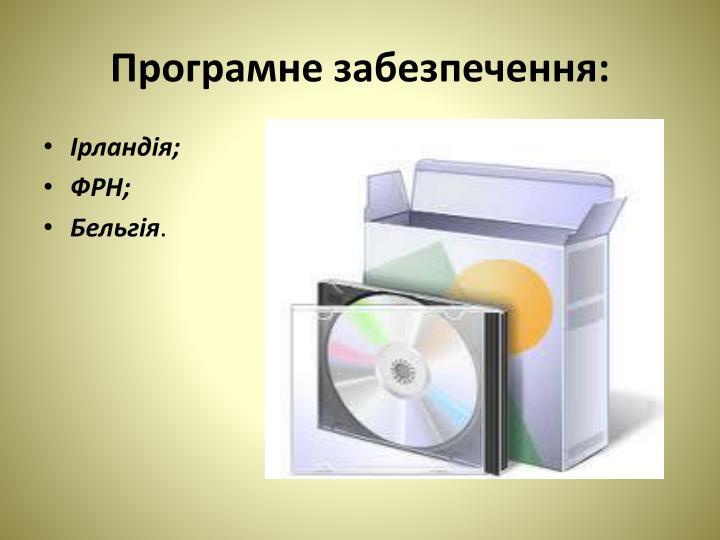 Програмне забезпечення: