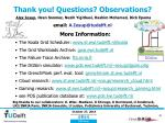 thank you questions observations