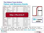 the failure trace archive failure and recovery events