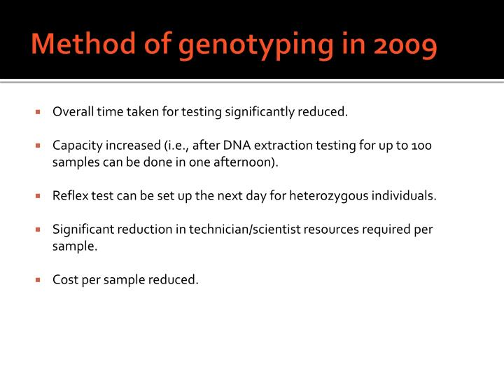 Method of genotyping in