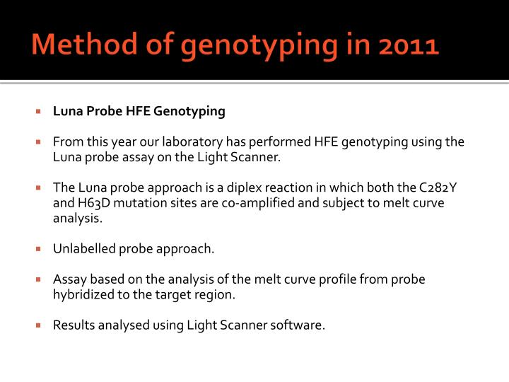 Method of genotyping