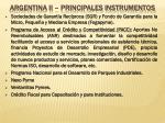 argentina ii principales instrumentos