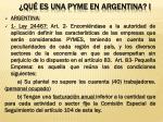qu es una pyme en argentina i