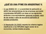qu es una pyme en argentina ii