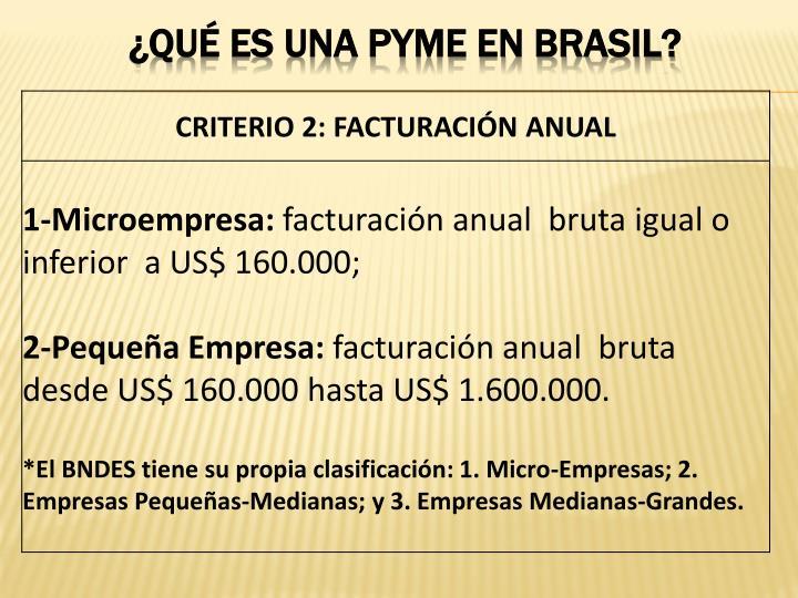 ¿qué es una pyme EN BRASIL?