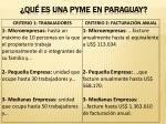 qu es una pyme en paraguay