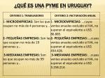 qu es una pyme en uruguay