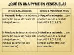 qu es una pyme en venezuela