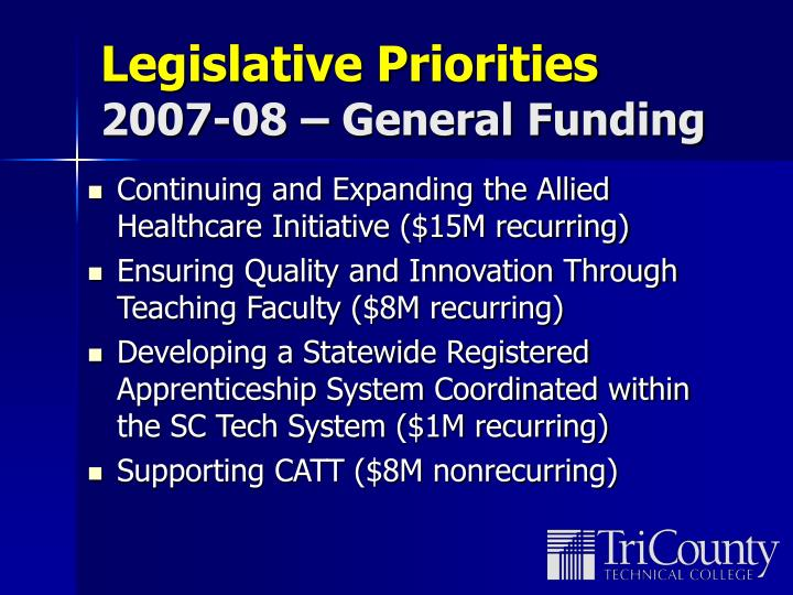 Legislative Priorities