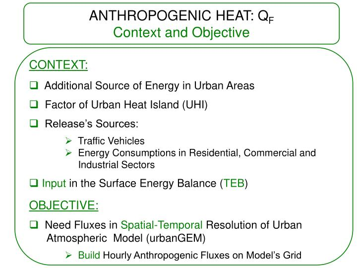 ANTHROPOGENIC HEAT: Q