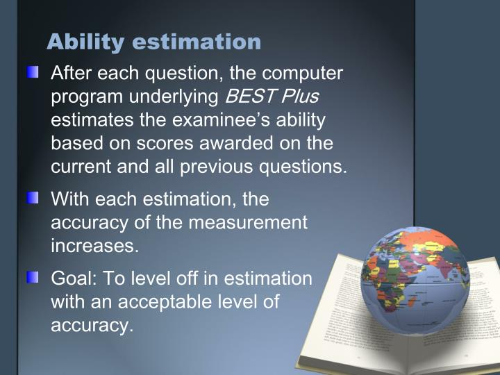 Ability estimation