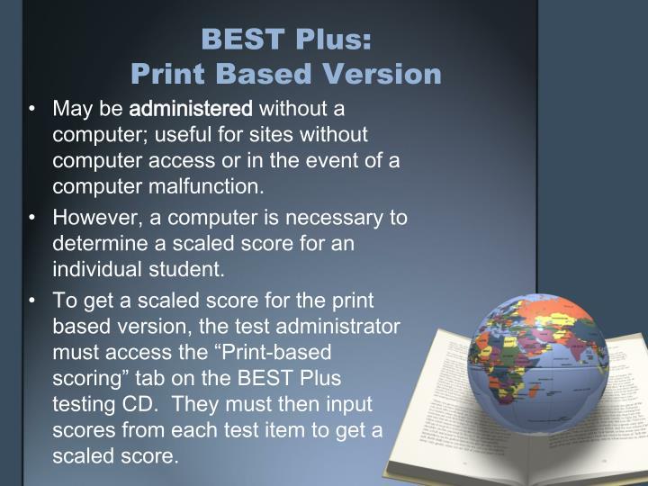 BEST Plus: