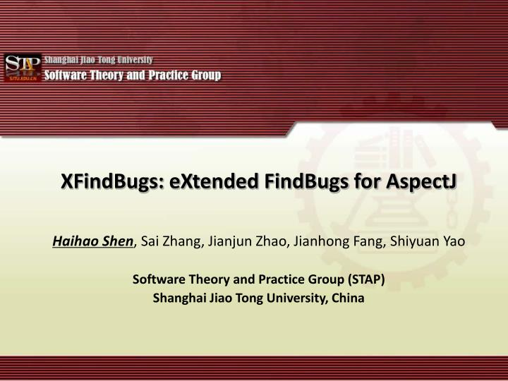 Xfindbugs extended findbugs for aspectj