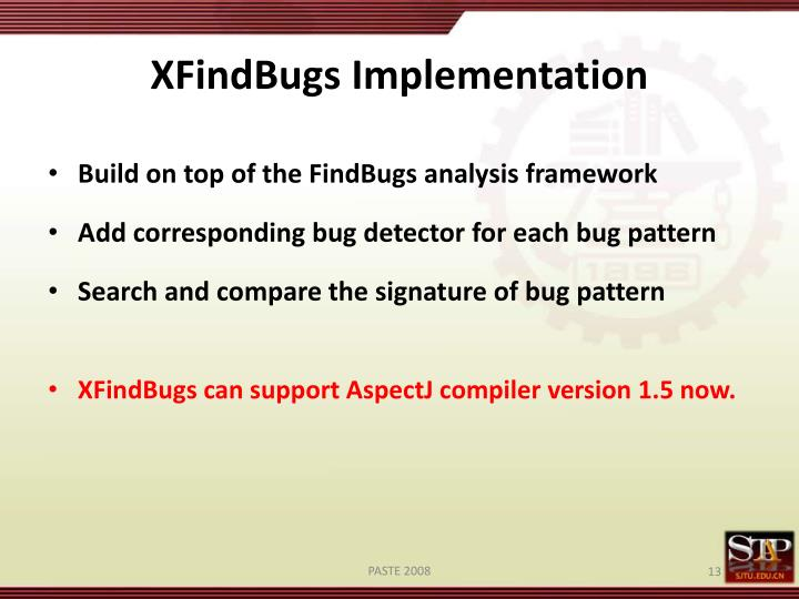 XFindBugs Implementation