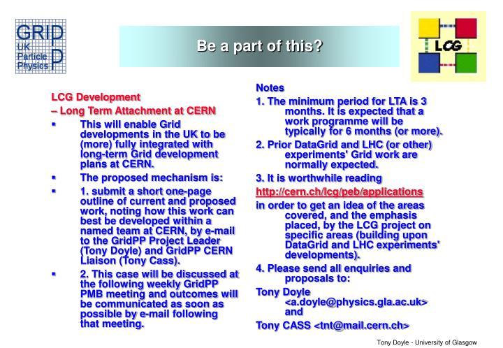 LCG Development