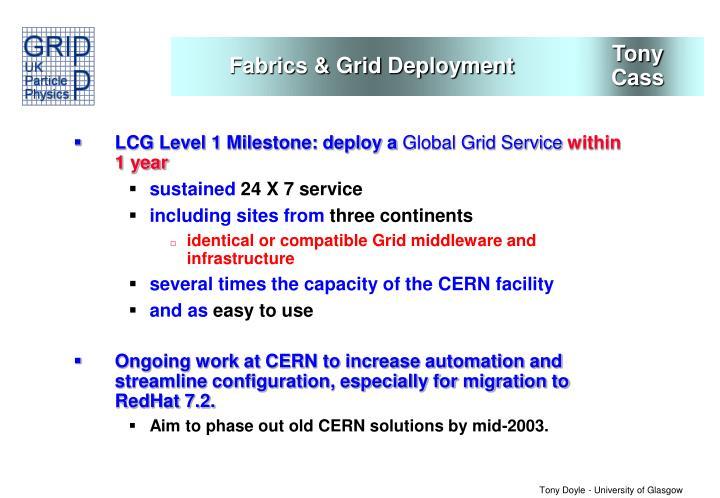 Fabrics & Grid Deployment