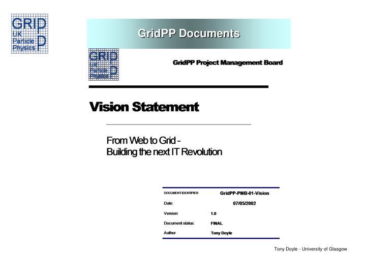 GridPP Documents