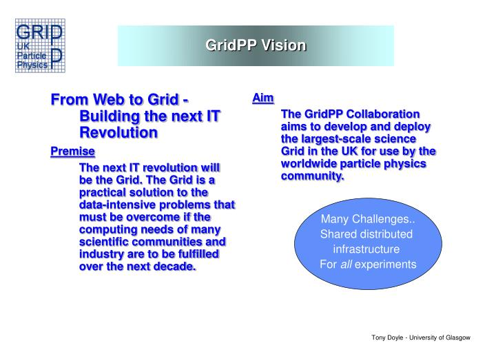 From Web to Grid - Building the next IT Revolution