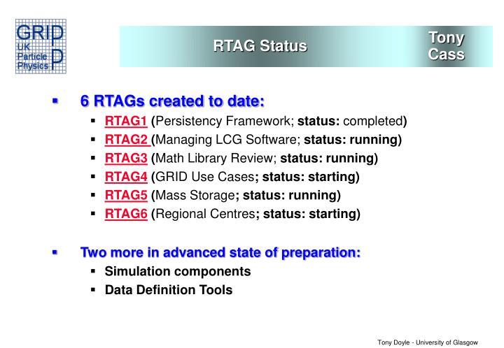 RTAG Status