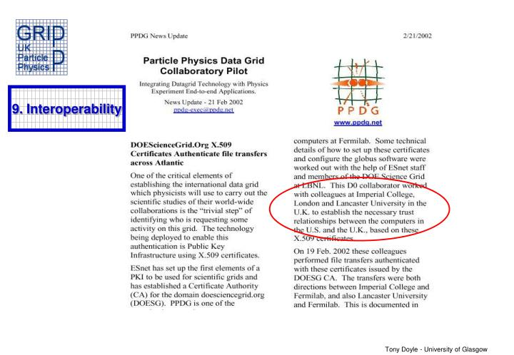 9. Interoperability