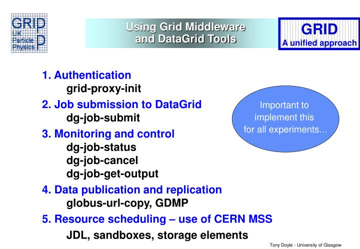 Using Grid Middleware